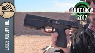 Silencerco Maxim 9 Integrally Suppressed Handgun: SHOT Show 2017 Range Day