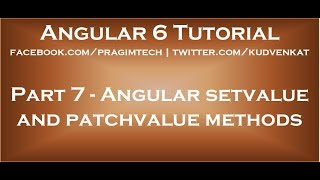 Angular setvalue and patchvalue methods