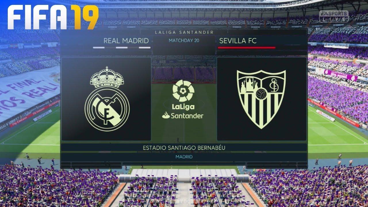 Fifa 19 Real Madrid Vs Sevilla Fc Estadio Santiago Bernabeu