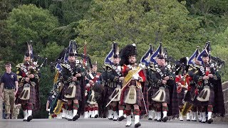 Highlanders Pipes & Drums lead Balaklava Company 5 SCOTS back to barracks through Ballater 2019