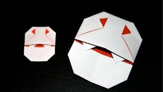 Origami Tutorial For Halloween - Tiny Dracula By Robin Glynn