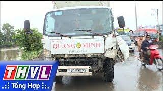 THVL | Xe tải đâm vào dải phân cách gây kẹt xe gần 2 giờ đồng hồ trên quốc lộ 1 A