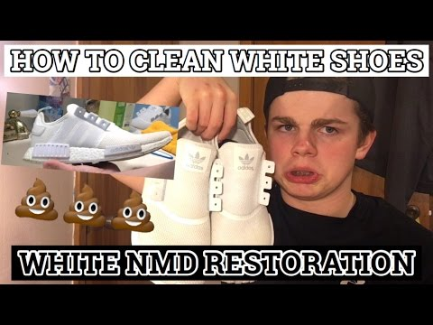 WHITE NMD RESTORATION (How to Clean White Shoes)