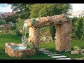 Backyard Landscape and Fountain 19 Ideas
