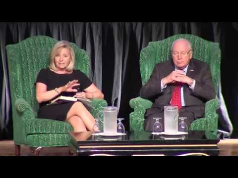 Vice President Dick Cheney and his daughter Liz at the 2015 West Virginia Business Summit