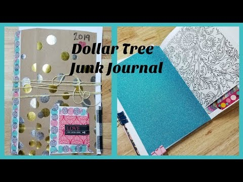 DIY Dollar Tree Junk Journal Art Supply Challenge