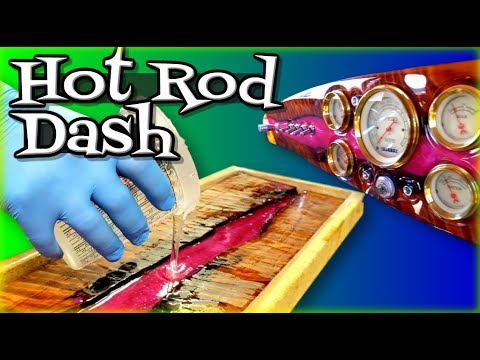 How to make a Hot Rod Custom Dash with Wood and Epoxy