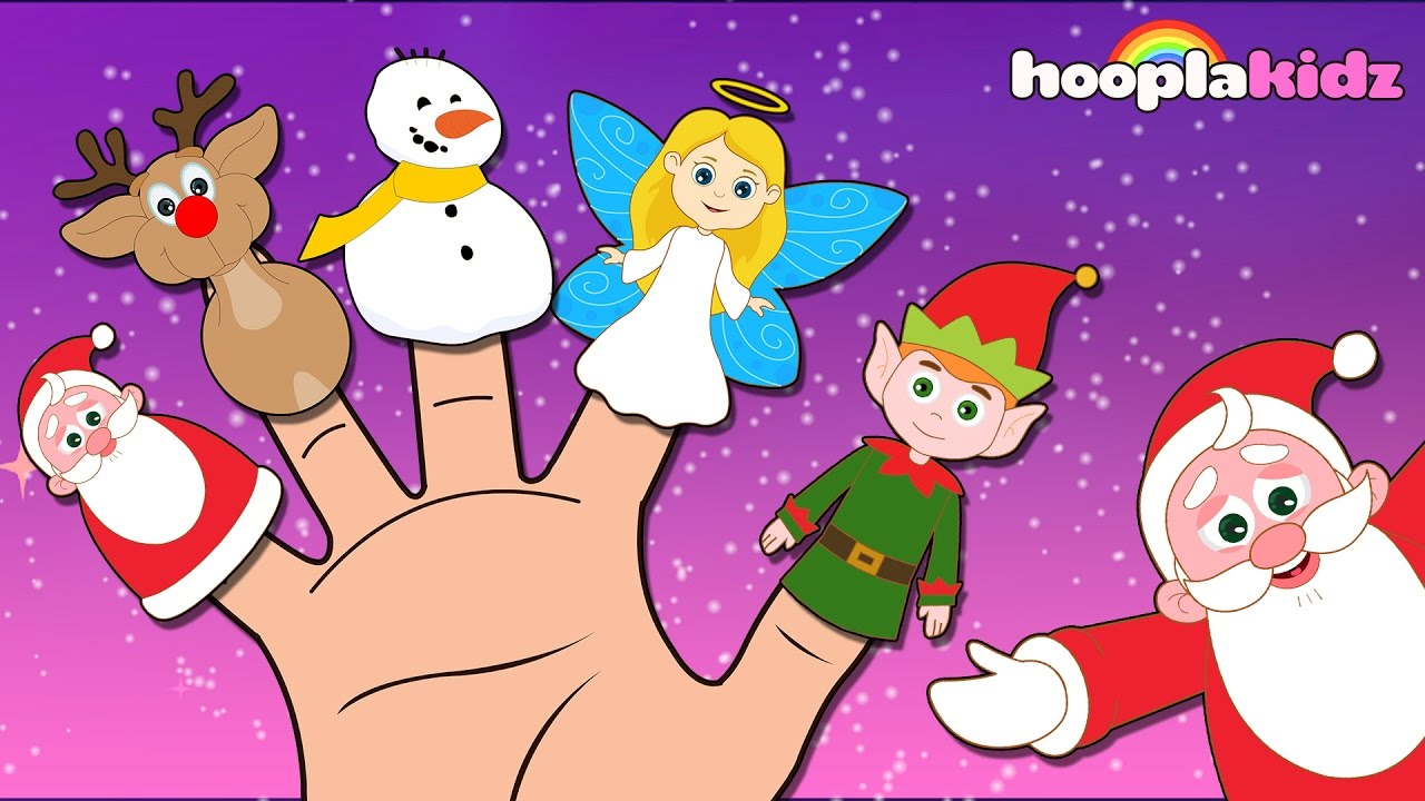christmas finger family song by hooplakidz christmas songs for