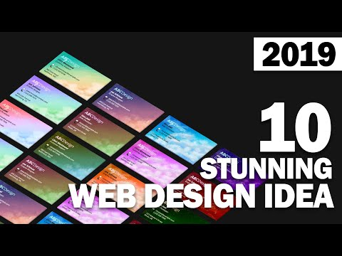 10 Stunning Web Design Ideas You Must See in 2019 - YouTube