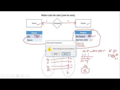 Kardinalitas Satu Ke Satu (one To One) - Basis Data