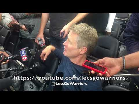 Entire KERR interview: Steph Curry non-contact practice, Durant/Livingston will play G4, Popovich