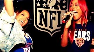 Keke palmer and adrienne bailon nfl sing-off (full video)