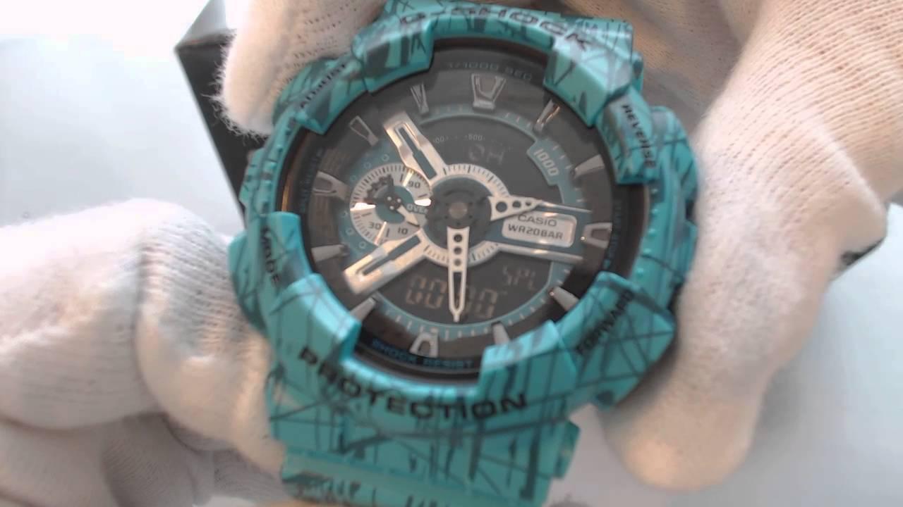 Blue Casio G Shock Analog Digital Xl Watch Ga110sl-3a
