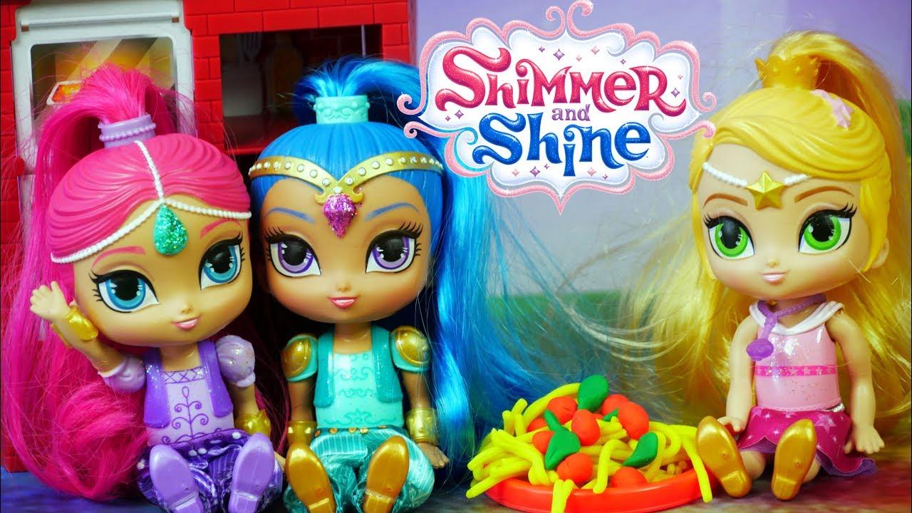 Shimmer I Shine Leah W Kuchni Play Doh Barbie Bajki Dla Dzieci