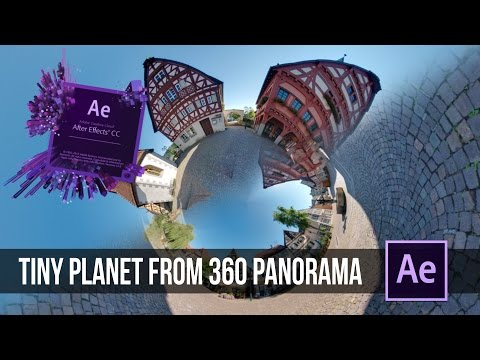 How to create a TINY PLANET Effect in After Effects | zuckerschockfilms