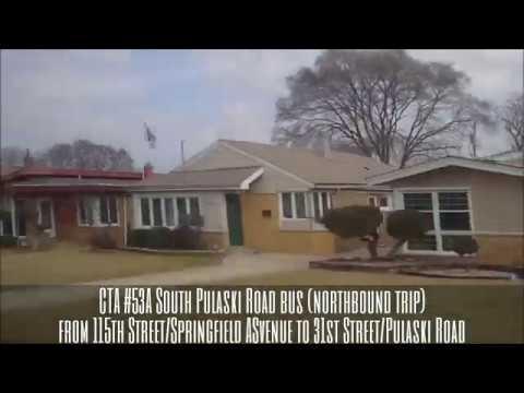 Cta 53a South Pulaski Road Bus Nb Trip From 115th