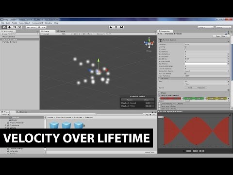 Unity's Shuriken Particle System: Velocity over Lifetime and Curves
