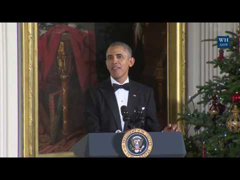 Obama Roasts Al Pacino at Kennedy Honors Reception