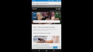 Tutorial de como atualizar o Android do Xperia t2 dual