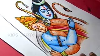 How to Draw LORD Sri Rama Hanuman Step by Step Detailed Drawing