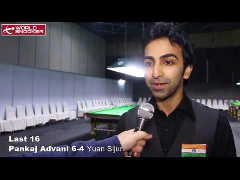2016 Snooker 6-red Last 16 Pankaj Advani interview