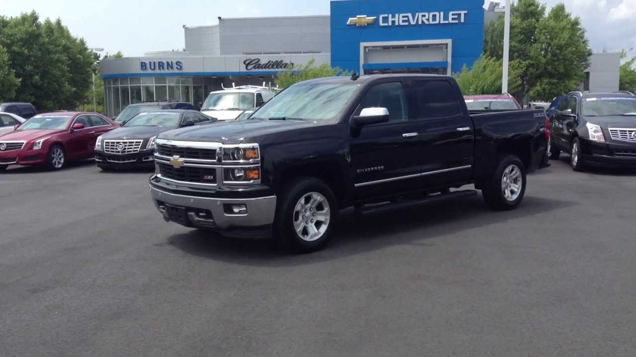 2014 Chevrolet Silverado Crew Cab Ltz Black Burns