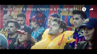 kevin ltolf messi neymar pique fc barcelona for the new safety video qatar airways