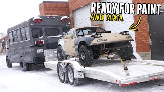 homepage tile video photo for AWD Miata is OFF TO PAINT!