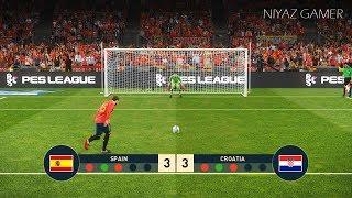 PES 2019 | SPAIN vs CROATIA | Penalty Shootout | Gameplay PC