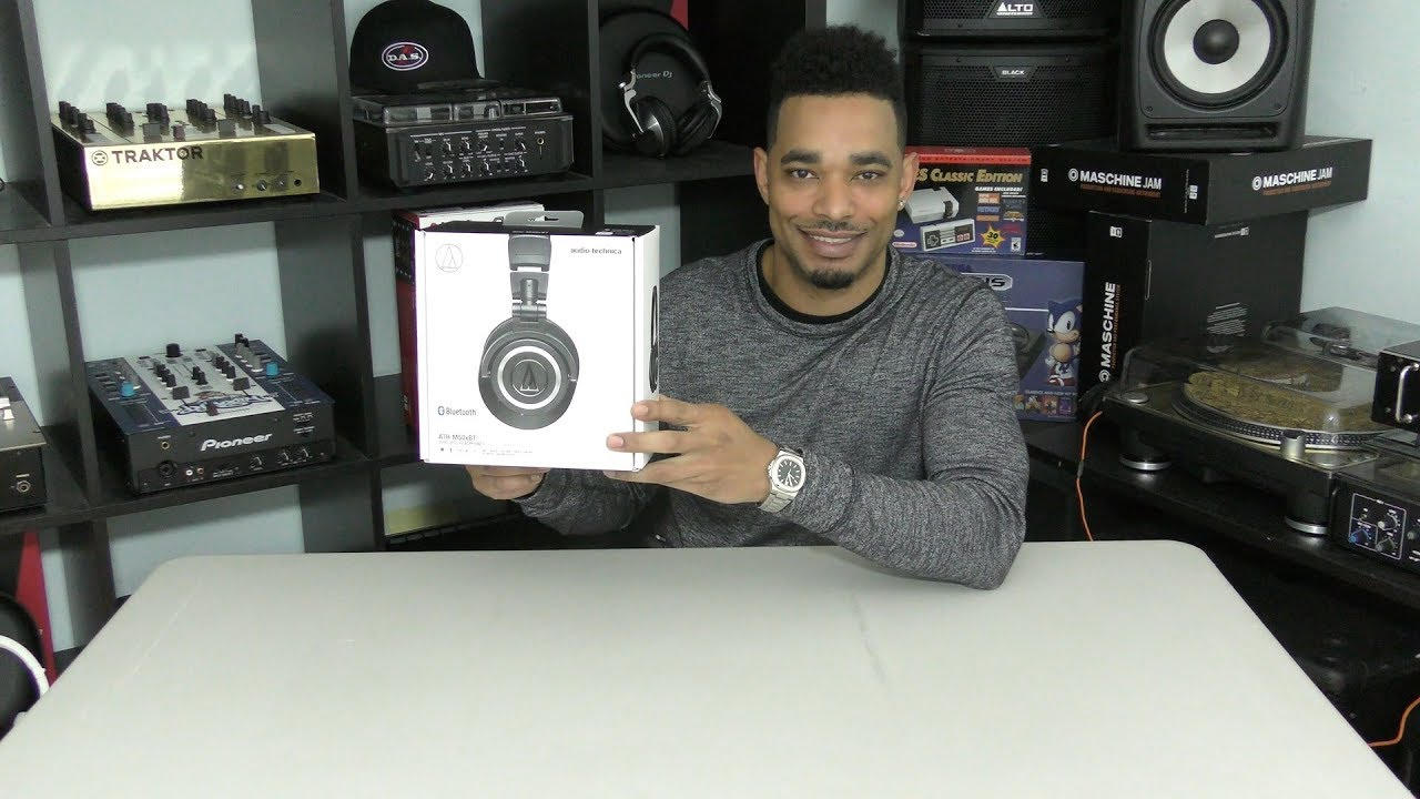 Audio-Technica ATH-M50xBT Headphones Unboxing & First Impressions