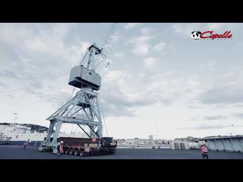 [ Convoi exceptionnel ] Transfert d'une grue Peiner à Sète - Groupe Transports Capelle