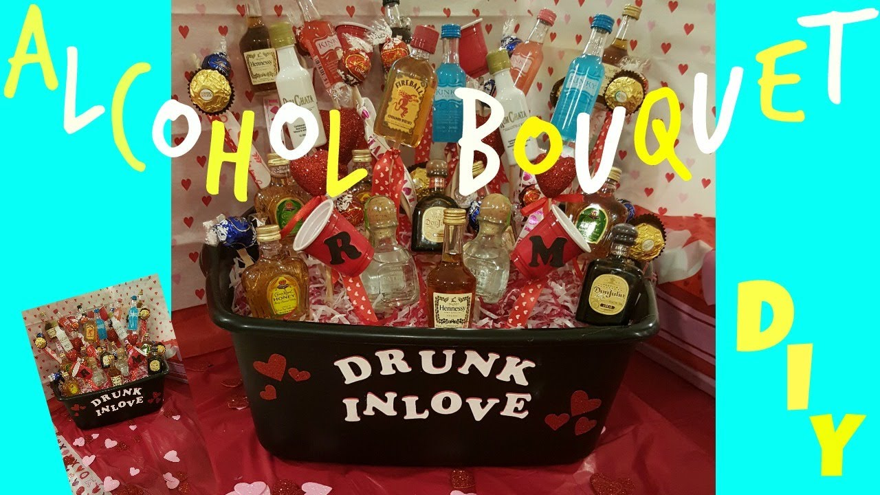 Alcohol Bouquet DIY L Valentines Day Anniversary Birthday Gift Idea Xomireyaa