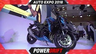 Suzuki GSX S750 @ Auto Expo 2018 : PowerDrift