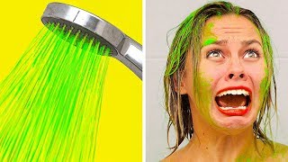 BEST FUNNY PRANKS ON FRIENDS  Family Funny Prank Wars by 123 GO