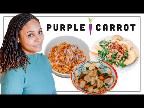 2020 PURPLE CARROT AN HONEST REVIEW   PLANT BASED MEAL DELIVERY   IS IT PLANT BASED NEWBIE FRIENDLY?