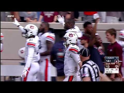 Auburn Football vs Texas A&M Highlights