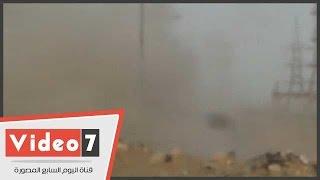 بالفيديو..ننفرد بلحظة تفجير قنبلة شديدة الانفجار اسفل برج كهرباء مدينة نصر