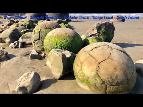 New Zealand Moeraki Boulders Koekohe Beach Otago Coast South Island