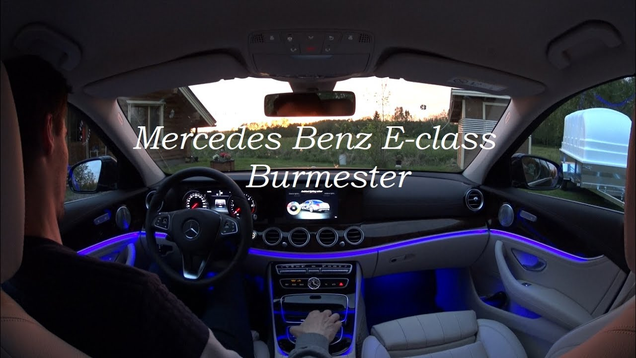 mercedes benz e class 2018 burmester audio youtube. Black Bedroom Furniture Sets. Home Design Ideas