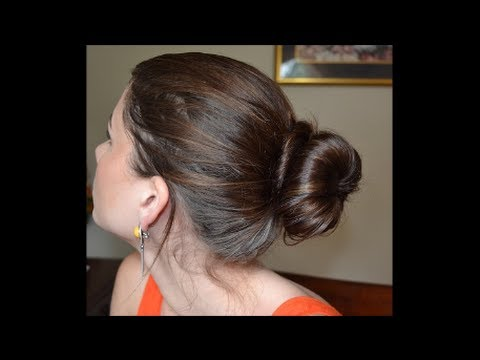 DIY Sock Bun Hairstyle YouTube - Hairstyle diy video