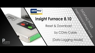 DATAPAQ TPAQ3 Reset & Download Datalog Mode via COMs Cable - Software Training l PP Systems