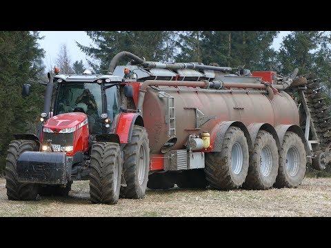 Massey Ferguson 8690 Working Hard in The Field w/ AP-GV 35 Manura Barrel | Danish Agriculture