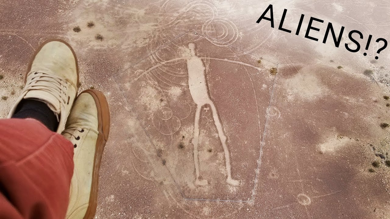 GIANT HUMAN FIGURES discovered on desert floor!