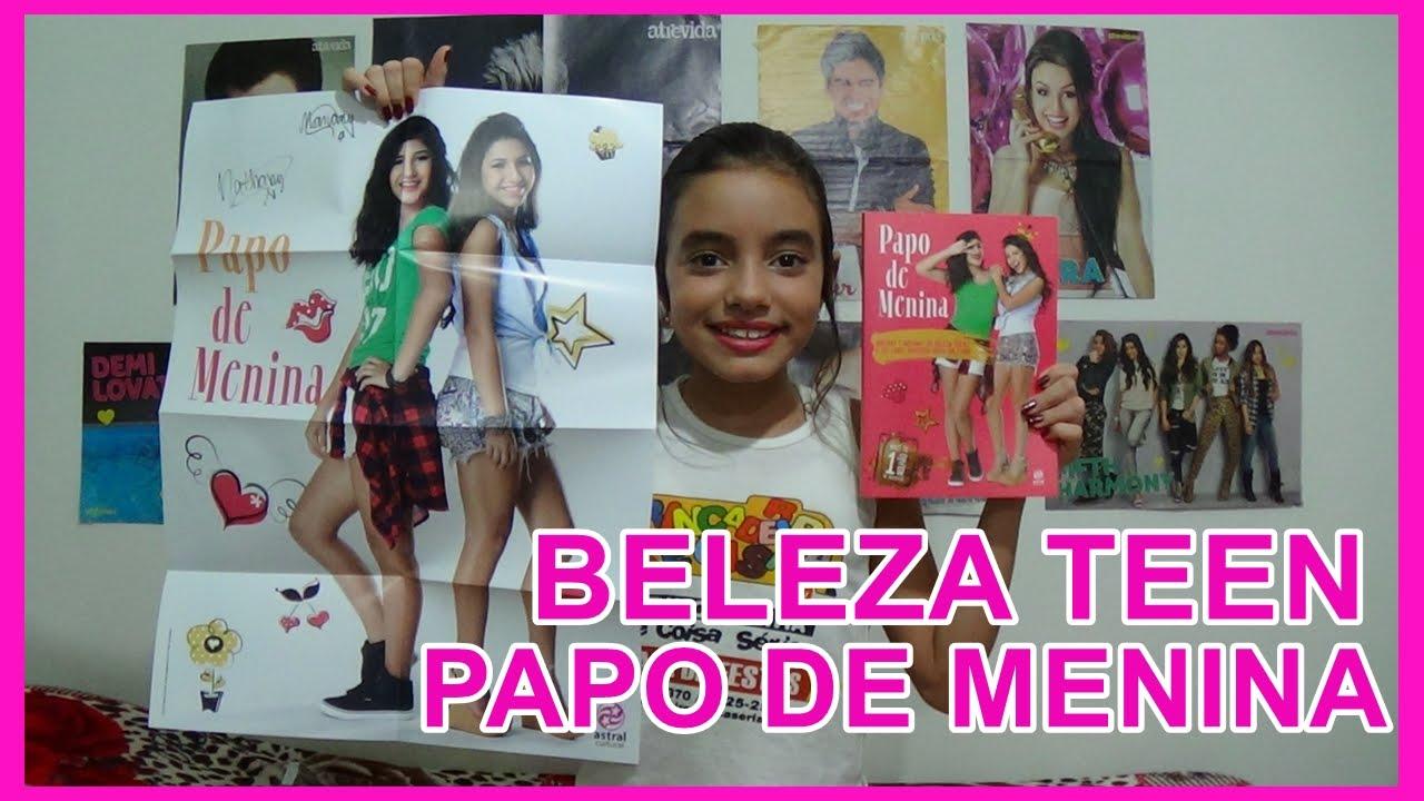 ABRINDO LIVRO PAPO DE MENINA DO CANAL BELEZA TEEN #VEDA19 (OPENING BOOK  BEAUTY GIRL TEEN CHAT) - YouTube