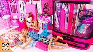 파티가는날 미미 인형놀이 드라마 아침 일상 밀착중계 ! 드레스 옷입히기 장난감 놀이 Barbie and Ken Bedroom House Morning Routine | 보라미TV