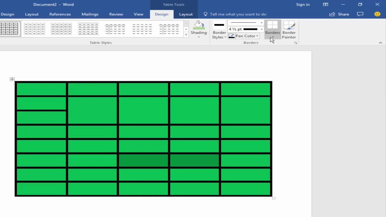 How to Remove Table Border Line in Microsoft Word 2017 ...
