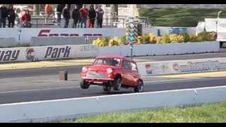 K20 Supercharged RHD Mini Cooper Does A Wheelie At The Track