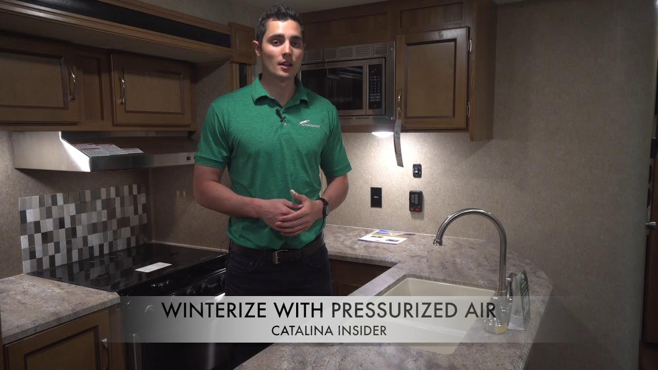 Coachmen Catalina Insider: Winterizing & De-Winterizing with Pressurized Air