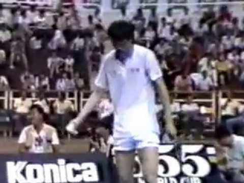 1987 Badminton World Cup Final -Zhao Jian Hua 赵剑华 vs Yang Yang 杨阳