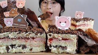 SUB)CHOCOLATE CAKE/뚜레쥬르 아기돼지 딸…